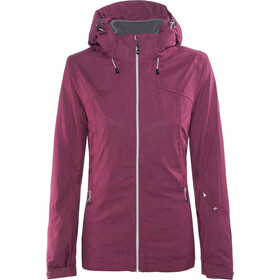 Meru W's Trollhättan Waterproof 3 in 1 Jacket Berry Melange